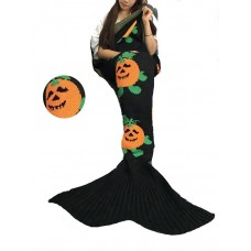 Coroler Christmas Cute Mermaid Tail Blanket Living Room Sleeping Bag for Adults Apply on All Seasons with Striped Patterns