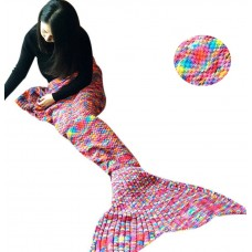 Coroler Beautiful Mermaid Tail Blanket Sleeping Bags with Spot for Adults,Multicolor