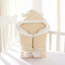 Coroler Baby Wrap Swaddle Blanket Cozy Sleeping Bag with Wave Patterns Extra Thick for Autumn,Winter and Spring 0-12 Month Baby