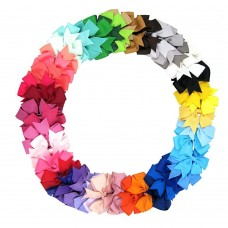 Coroler 48Pcs Baby Girl Hair Bows Lovely Grosgrain Ribbon Hair Accessorie With Clip Hairpins Birthday Gift for Kids
