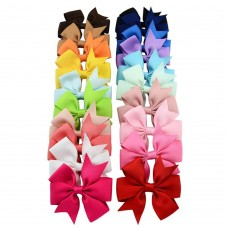 Coroler 20Pcs Baby Girl Hair Bows Lovely Grosgrain Ribbon Hair Accessorie With Clip Hairpins Birthday Gift for Kids