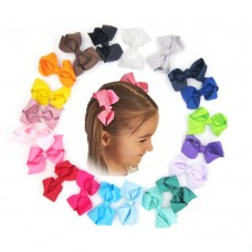 Coroler 20Pcs Baby Girl Hair Bows Cute Flower Design Grosgrain Ribbon Hair Accessorie With Clip Hairpins Birthday Gift for Kids