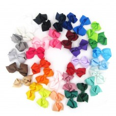 Coroler 32Pcs Baby Girl Hair Bows Cute Flower Design Grosgrain Ribbon Hair Accessorie With Clip Hairpins Birthday Gift for Kids