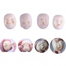 Coroler 4pcs Humorous Vent Human Face Emotion Ball Toy Squeeze Fidget Toy Gift for Adults Children