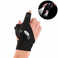 Coroler Cool Fingerless LED Flashlight Gloves for Repairing,Working in Darkness Places, Fishing, Camping, Hiking and Outdoor Activities (Right Hand)