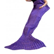 Coroler174; Super Warm Soft Knited Blanket Mermaid Tail Blanket Sofa Quilt Creative Gifts Present