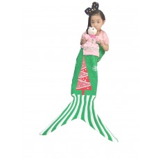Coroler Christmas Fashion Mermaid Blankets Snuggle Sleeping Bags for Childrens,Unique Presents for Halloween,Birthday Gifts