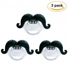 Coroler 3Pcs Mustache Pacifier for Baby, Funny Gentleman Mustache Lip Pacifier, Newborn Infant Pacifier Gift BPA Free Latex Free made With Silicone (D)