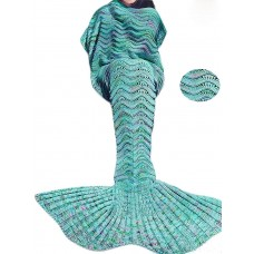 Coroler Adorable Mermaid Tail Blanket Snuggle Sleeping Bags with Wave Pattern for Children
